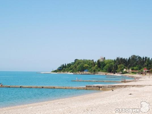 гудаута фото пляж