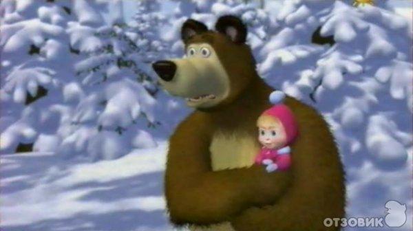 3d маша и медведь раз два три ёлочка