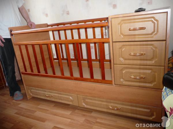 Кроватка-трансформер Ведрусс