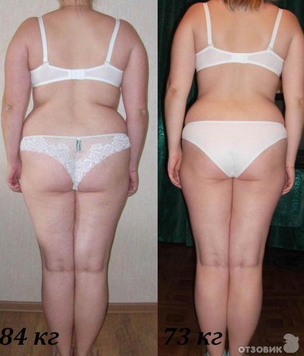 Протасовская после диета и до